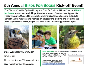 2018 Birds For Books Kickoff Event