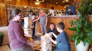 Giant Jenga HS Library 2017